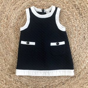 Baby Gap Navy and White Quilted Dress Size 12-18m